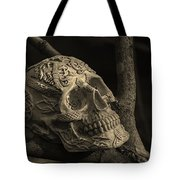 Celtic Skulls Symbolic Pathway To The Other World Tote Bag
