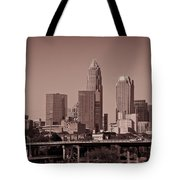 Charlotte Skyline Tote Bag by Jill Lang
