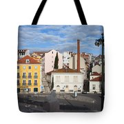 City Of Lisbon In Portugal Tote Bag