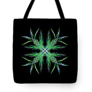 Colorful Crystalline Snowflake Tote Bag