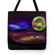Computer Generated Sphere Abstract Fractal Flame Modern Art Tote Bag