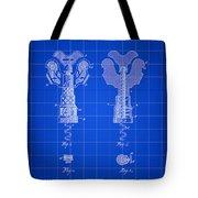 Corkscrew Patent 1886 - Blue Tote Bag