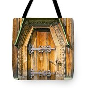 Detail Of The Door Of A Typical Ukrainian Antique Orthodox Churc Tote Bag