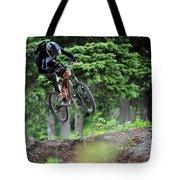 Extreme Biking In Alaska Tote Bag