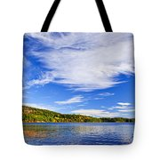 Fall Forest And Lake Tote Bag