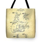 Fender Guitar Patent Drawing From 1960 Tote Bag by Aged Pixel