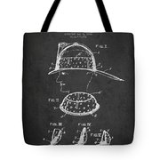 Firefighter Headgear Patent Drawing From 1926 Tote Bag