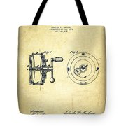 Fishing Reel Patent From 1874 Tote Bag