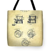 Fishing Reel Patent From 1892 Tote Bag
