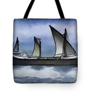 Fishing Vessel In The Arabian Sea Tote Bag