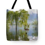 Flooding Alpine Lake Tote Bag