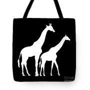 Giraffe In Black And White Tote Bag