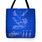 Golf Iron Patent 1914 - Blue Tote Bag