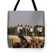 Hampi Ghats Tote Bag