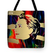 Hillary Clinton Gold Series Tote Bag by Marvin Blaine