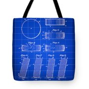 Hockey Puck Patent 1940 - Blue Tote Bag