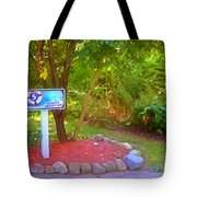 5 Hole Sign On  Golf Course 2 Tote Bag