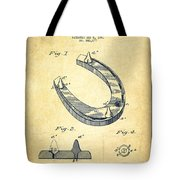 Horseshoe Patent Drawing From 1881 Tote Bag
