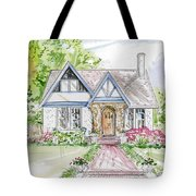 House Rendering Tote Bag