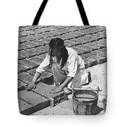Indians Making Adobe Bricks Tote Bag