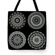 Kaleidoscope Ernst Haeckl Sea Life Series Black And White Set 2  Tote Bag