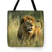 King Of The Savanna Tote Bag