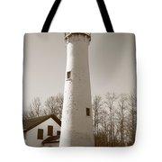 Lighthouse - Sturgeon Point Michigan Tote Bag