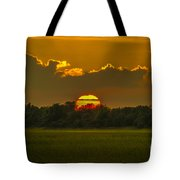 Lowcountry Sunset Over The Marsh Tote Bag