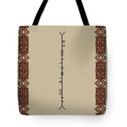 Macdowell Written In Ogham Tote Bag