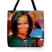 Michelle Obama Tote Bag by Marvin Blaine