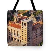 Monastery In Montserrat Tote Bag