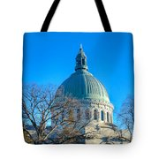 Naval Academy Chapel Tote Bag