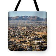 Panoramic View Of Skyline And Downtown Tote Bag
