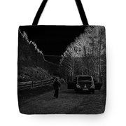 Parking Next To A Loch In The Scottish Highlands Tote Bag