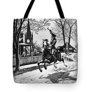 Paul Reveres Ride, 1775 Tote Bag