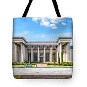 Pavilion In Kiev's National Complex  Tote Bag