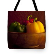 Peppers Still Life Close-up Tote Bag