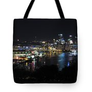 Pittsburgh Skyline At Night Tote Bag