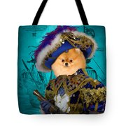 Pomeranian Art Canvas Print Tote Bag