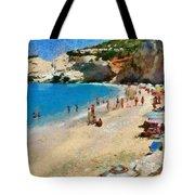 Porto Katsiki Beach In Lefkada Island Tote Bag