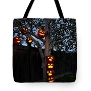 Pumpkin Escape Over Fence Tote Bag