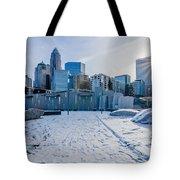 Rare Winter Scenery Around Charlotte North Carolina Tote Bag