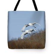 Red-crowned Cranes Tote Bag