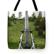 Replica Of Wooden Trebuchet On The Path Leading To The Urquhart Castle Tote Bag