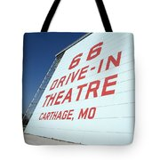 Route 66 Drive-in Theatre Tote Bag