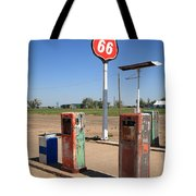 Route 66 Gas Pumps Tote Bag