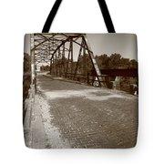 Route 66 - One Lane Bridge Tote Bag