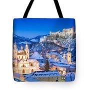 Salzburg In Winter Tote Bag