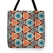 Seamlessly Tiled Kaleidoscopic Mosaic Pattern Tote Bag