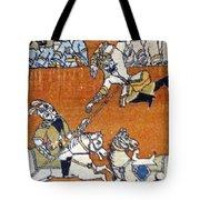 Shahnameh Ferdowsi Rostam And Sohrab Photos Of Persian Antique Rugs Kilims Carpets  Tote Bag